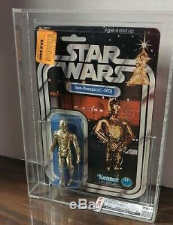 1978 Star Wars 12 Back clear bubble C C3PO CAS 75+ vintage Kenner 80 85 afa