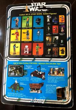 1978 Vintage Kenner Star Wars 21A Back Boba Fett Action Figure MOC Cut Pop Grail