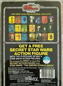 1980 Vintage Kenner Star Wars Esb 21 Back Boba Fett Clear Bubble Afa 85-80-85