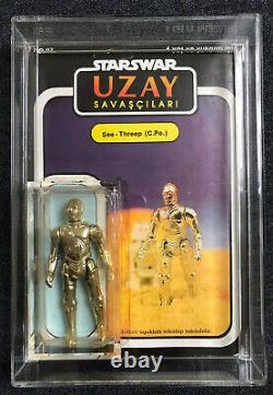 1988 vintage Start Wars MOC C-3PO UZAY turkish bootleg +++ RARE +++