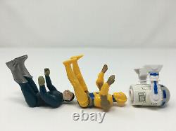 3 Repro Figures Blue Snaggletooth, Droids C-3PO & R2-D2 vintage-style Star Wars