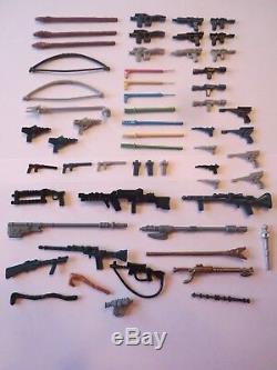 57 Vintage Star Wars Weapons Figures Lot Repros NICE