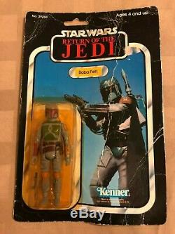 83 Vintage Kenner Star Wars Return of the Jedi 77Bk Boba Fett Action Figure MOC