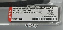 AFA 70 Vintage Kenner Star Wars sensorscope R2-D2 action figure MOC toy 77 back