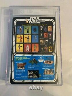 AFA 85 Vintage Kenner 1979 Star Wars Original 21-back-B Boba Fett Clear MOC