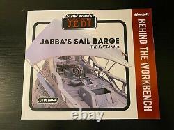 HASLAB Star Wars Jabbas Sail Barge The Khetanna NiB with Large Lot of Figures