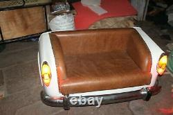 Handmade Vintage Car Sofa Leather Tufted Chesterfield Restoration Style Retro