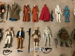 Kenner Star Wars (63 Figures Lot) Original Weapons Accessories 1977-85 Vintage