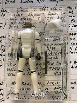Kenner Vintage 1985 Star Wars loose Luke Skywalker (STORMTROOPER) AFA 80 Last 17
