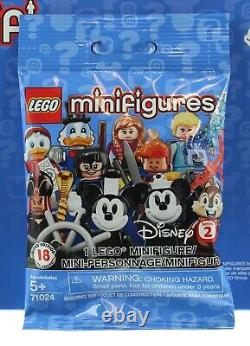 Lego Disney Minifigures Mystery Pack Series 2 Display Case of 60 Packs 71024