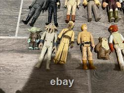 Lot Of 32 Vintage Star Wars Figures Dewback, Han Solo Blaster And Misc Parts