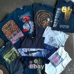 Lot of 9 vtg 90s band tee t shirt sz L XL pearl jam Metallica tool zep pumpkins