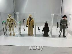 Original 12 Kenner Vintage Star Wars Loose AFA all 85 NM+ HK 1977 Luke Han Leia