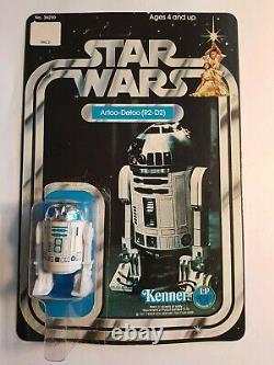 R2-D2 12 BACK A SKU ON FOOTER 1978 Vintage Star Wars UNPUNCHED MOC