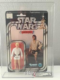 $RARE$ Debut First Vintage Kenner Star Wars AFA 80 Luke Skywalker 12 Back A Card