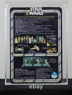 $RARE$ Unpunched Debut Vintage Kenner Star Wars AFA 85 Chewbacca 12 Back A Card