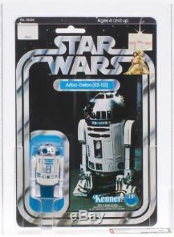 $RARE$ Vintage Kenner Star Wars AFA 85 R2-D2 12 Back A Card SKU Footer Numbers