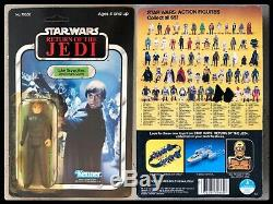 Rare! Rotj Molded Face Luke Skywalker Jedi Unpunched Moc Vintage Star Wars