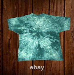 Rare Vintage LIQUID BLUE STAR WARS JAR JAR BINKS Green Tie Dye T SHIRT Large