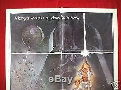Star Wars 1977 Original Movie Poster 1sh Style A Vintage Skywalker Nm C9