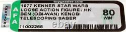 Star Wars 1977 Vintage Kenner DT Obi-Wan Kenobi (HK) Loose Action Figure AFA 80