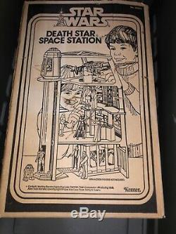 Star Wars 1977 Vintage Kenner Death Star Space Station Playset AS IS