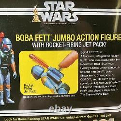 Star Wars Boba Fett Jumbo Kenner vintage figure Gentle Giant 12 Rocket Firing