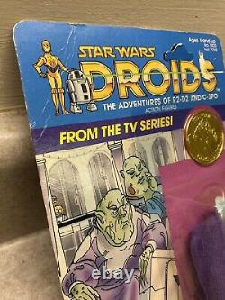 Star Wars Droids Sise Fromm 1985 MOC Kenner Vintage Partially Unpunched Card TV