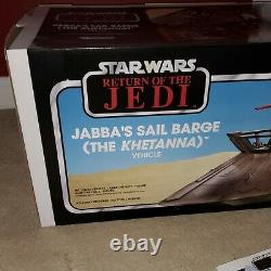 Star Wars Hasbro The Vintage Collection Jabbas Sail barge, with shipping box