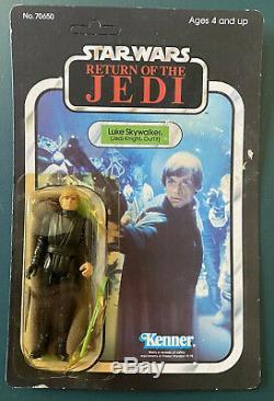 Star Wars Kenner Vintage Luke Skywalker Jedi Knight 1983 65 Back ROTJ Unpunched