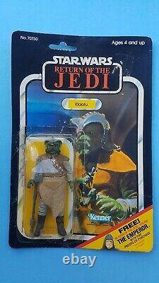 Star Wars ROTJ Kenner Klattu & Bib Fortuna MOC carded Vintage