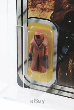 Star Wars VINYL CAPE JAWA Figure MOC, 12 Back A, Vintage, Kenner, AFA 90