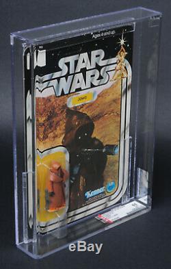 Star Wars Vintage 12 Back-A Vinyl Cape Jawa AFA 85 (85/85/90) Unpunched MOC