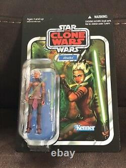 Star Wars Vintage Collection Ahsoka Tano VC102 MOC Case Fresh Rare Unpunched