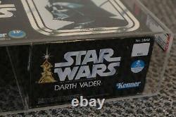 Star Wars Vintage Darth Vader AFA 80 Graded MISB 1978 12 15 Inch Large Kenner