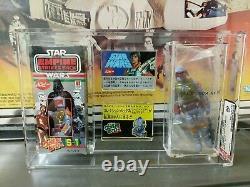 Star Wars Vintage ESB Popy Boba Fett Moc AFA 80