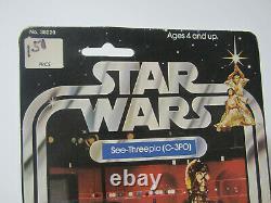 Star Wars Vintage Kenner 1977 See-Threepio 12 Back Version Rare C-3PO