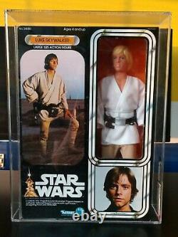 Star Wars Vintage Luke Skywalk AFA 80 Graded MISB 1978 12 Inch Large Kenner Doll