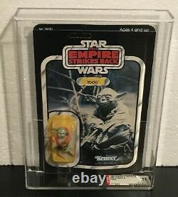 Star Wars Vintage Original ESB Yoda 32 Back MOC AFA 75