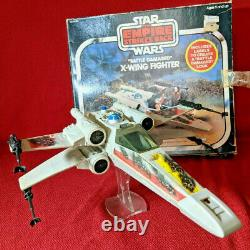 Star Wars Vintage X-Wing Fighter with box WORKS 1981 BD COMPLETE Kenner xwing