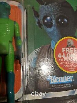 Star wars Greedo 47 Back Vintage ESB Kenner MOC AFA worthy Han Solo's nemesis