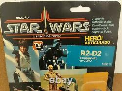 Super Rare Vintage Star Wars 1988 Brazil Glasslite R2-d2 Pop-up Saber Moc Sealed