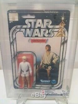 Vintage 1977 Star Wars Luke Skywalker DT 12A Double Telescoping MOC CAS75+ RARE