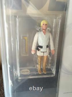 Vintage 1977 Star Wars Luke Skywalker DT Telescoping Saber Loose Figure AFA 75