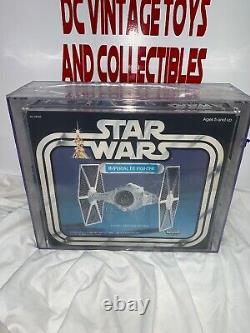 Vintage 1978 Kenner Star Wars Tie Fighter AFA 80+ SEALED CLEAR TAPE JUST GRADED