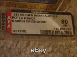 Vintage 1982 KENNER AFA 80 MARION RAVENWOOD INDIANA JONES ROTLA 9 BACK CARD MOC