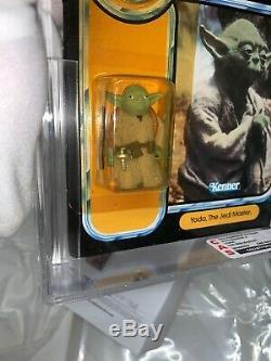 Vintage 1984 Kenner Star Wars Potf Yoda 92-back Moc Cas 80