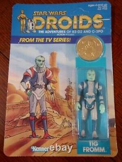 Vintage 1985 Kenner Star Wars Droids Tig Fromm Action Figure Still Sealed MOC