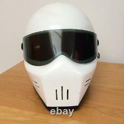 Vintage 80's Bandit White Stig Star Wars Style Helmet