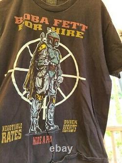 Vintage Boba Fett Star Wars Shirt Large Single Stitch 90s Changes For Hire L